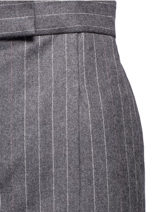 Detail View - Click To Enlarge - Thom Browne - Denim patch stripe high waist suspender skirt
