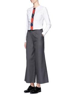 Thom BrowneStripe tie cotton Oxford shirt