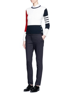 Thom Browne Colourblock cashmere sweater