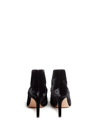 Back View - Click To Enlarge - Gianvito Rossi - V-throat velvet booties