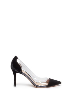 Gianvito Rossi 'Plexi' clear PVC velvet pumps