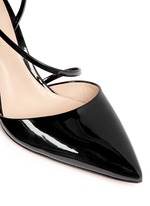 'Carlyle' strap patent leather pumps