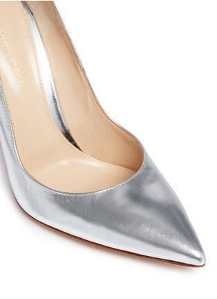 Detail View - Click To Enlarge - Gianvito Rossi - Metallic leather pumps