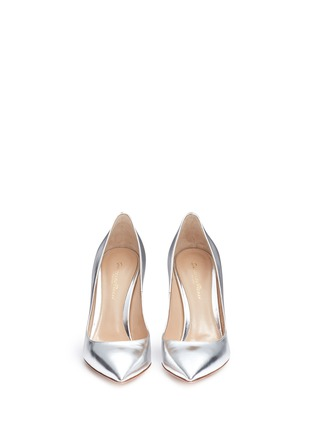 Front View - Click To Enlarge - Gianvito Rossi - Metallic leather pumps