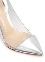 'Plexi' clear PVC metallic leather ankle strap pumps
