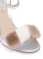 'Zelda' fur band leather sandals