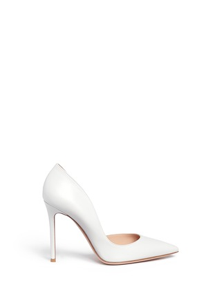 Main View - Click To Enlarge - Gianvito Rossi - 'Biba' calfskin leather pumps