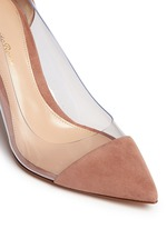 'Plexi' clear PVC suede pumps