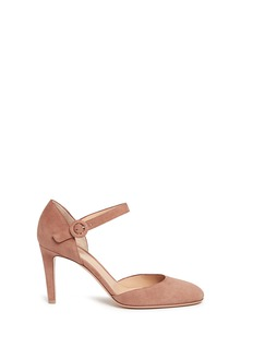Gianvito Rossi 'Campral' chamois suede Mary Jane d'Orsay pumps