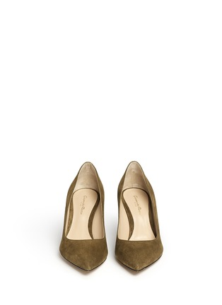 Front View - Click To Enlarge - Gianvito Rossi - 'Gianvito 70' suede pumps