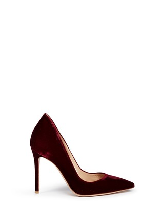 Main View - Click To Enlarge - Gianvito Rossi - 'Ellipsis' velvet pumps