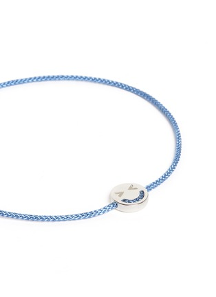 Ruifier - 'Merry' sterling silver charm cord bracelet