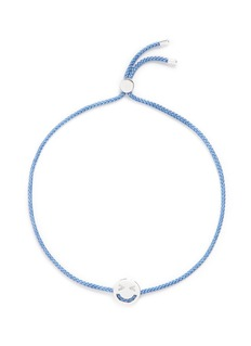 Ruifier'Merry' sterling silver charm cord bracelet