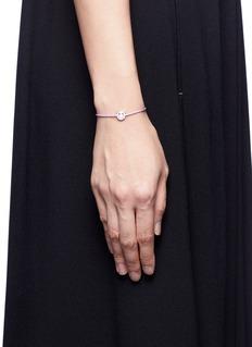 RUIFIER'Wicked' sterling silver charm cord bracelet