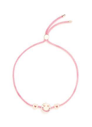 Ruifier-'Smitten Hearts' 18k rose gold charm cord bracelet