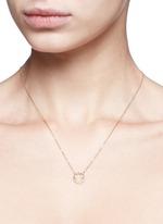 'Ciro' diamond 9k yellow gold pendant necklace
