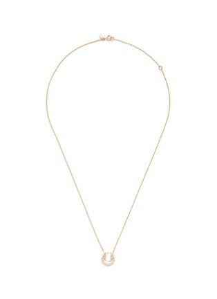 Ruifier-'Ciro' diamond 9k yellow gold pendant necklace