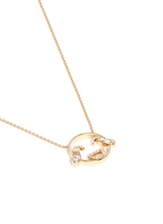 Ruifier'LOL' diamond topaz 18k yellow gold pendant