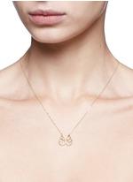 'Felix' diamond topaz 18k yellow gold pendant necklace