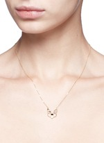 'Patch' diamond chalcedony 18k yellow gold pendant necklace