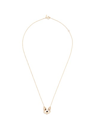 Ruifier - 'Patch' diamond chalcedony 18k yellow gold pendant necklace