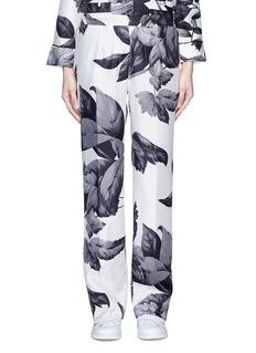 F.R.S For Restless Sleepers'Crono' greyscale leaf print silk pyjama pants
