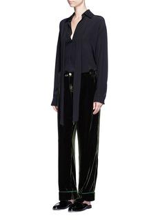 F.R.S For Restless Sleepers'Etere' velvet pyjama pants