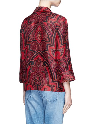 Back View - Click To Enlarge - F.R.S For Restless Sleepers - 'Era' paisley print silk pyjama shirt