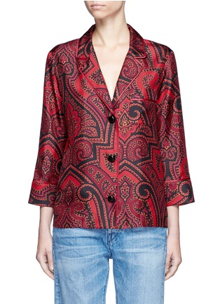 Main View - Click To Enlarge - F.R.S For Restless Sleepers - 'Era' paisley print silk pyjama shirt