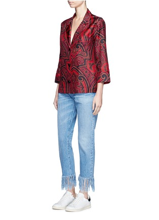 Figure View - Click To Enlarge - F.R.S For Restless Sleepers - 'Era' paisley print silk pyjama shirt