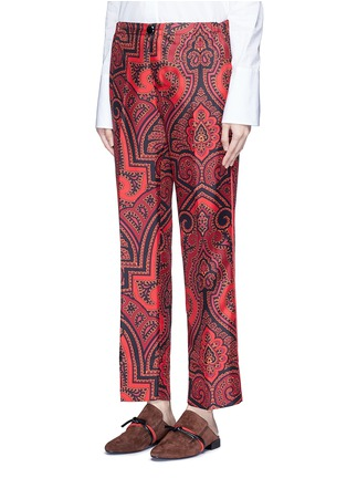 Front View - Click To Enlarge - F.R.S For Restless Sleepers - 'Zeus' paisley print silk pyjama pants