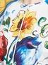 Detail View - Click To Enlarge - Dolce & Gabbana - Grosgrain waist maiolica print poplin top