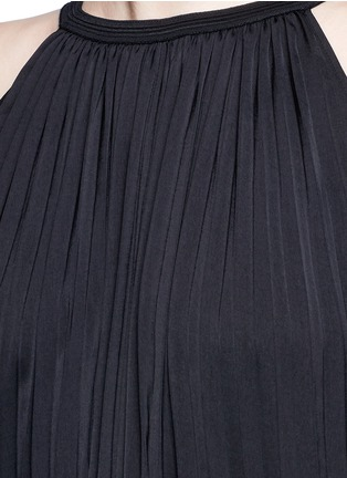 Detail View - Click To Enlarge - Vince - Washed satin sunburst pleat maxi dress