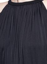 Washed satin sunburst pleat maxi dress