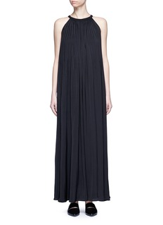 VinceWashed satin sunburst pleat maxi dress