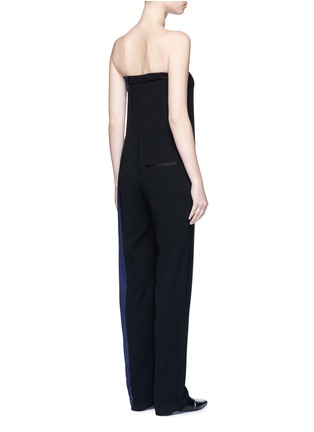 Back View - Click To Enlarge - rag & bone - 'Ida' satin stripe strapless ottoman jumpsuit