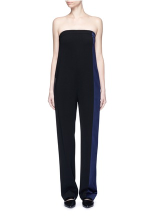 Main View - Click To Enlarge - rag & bone - 'Ida' satin stripe strapless ottoman jumpsuit
