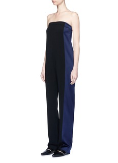 RAG & BONE 'Ida' satin stripe strapless ottoman jumpsuit
