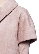 Velour knit cape jacket