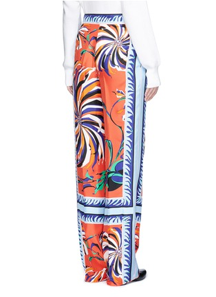Back View - Click To Enlarge - Emilio Pucci - Cactus flower print silk pyjama pants