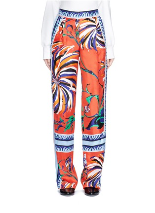 Main View - Click To Enlarge - Emilio Pucci - Cactus flower print silk pyjama pants