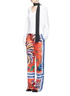 EMILIO PUCCICactus flower print silk pyjama pants