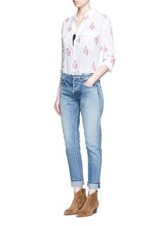 EQUIPMENT'Signature' flamingo print silk shirt
