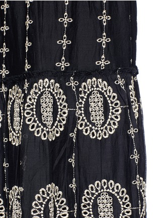 Detail View - Click To Enlarge - alice + olivia - 'Lysa' eyelet embroidered convertible maxi skirt