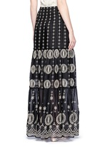 'Lysa' eyelet embroidered convertible maxi skirt