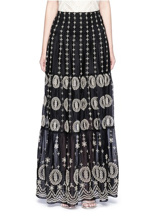 Main View - Click To Enlarge - alice + olivia - 'Lysa' eyelet embroidered convertible maxi skirt