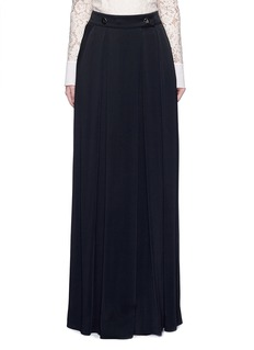 Lanvin Satin crepe wide leg pants