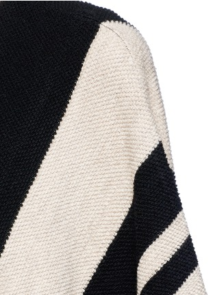 Detail View - Click To Enlarge - alice + olivia - 'Minka' oversize stripe wool poncho