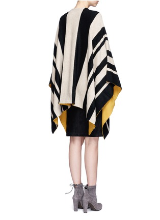 Back View - Click To Enlarge - alice + olivia - 'Minka' oversize stripe wool poncho