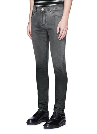 Front View - Click To Enlarge - Alexander McQueen - Slim fit dégradé stretch denim jeans